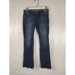 Express Women Blue Boot Cut Stretch Denim Jeans 2S